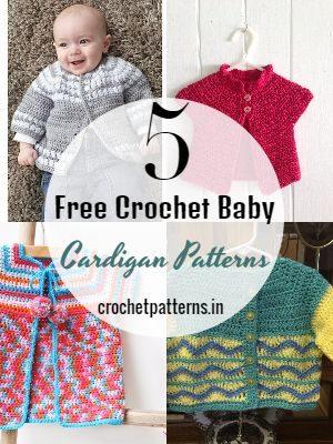 Free Crochet Baby Cardigan PatternsFree Crochet Baby Cardigan Patterns
