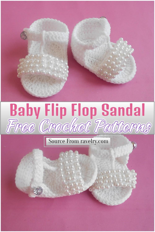 Free Crochet Baby Flip Flop Sandal Pattern