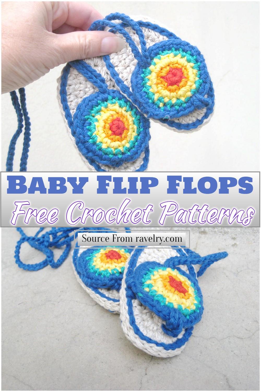 Free Crochet Baby Flip Flops Pattern