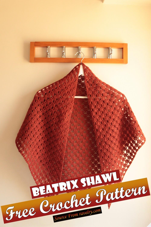 Free Crochet Beatrix Shawl Pattern