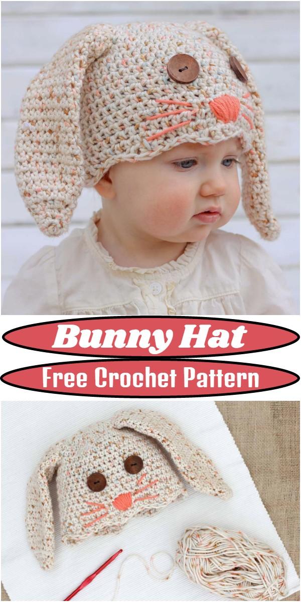 Free Crochet Bunny Hat Pattern
