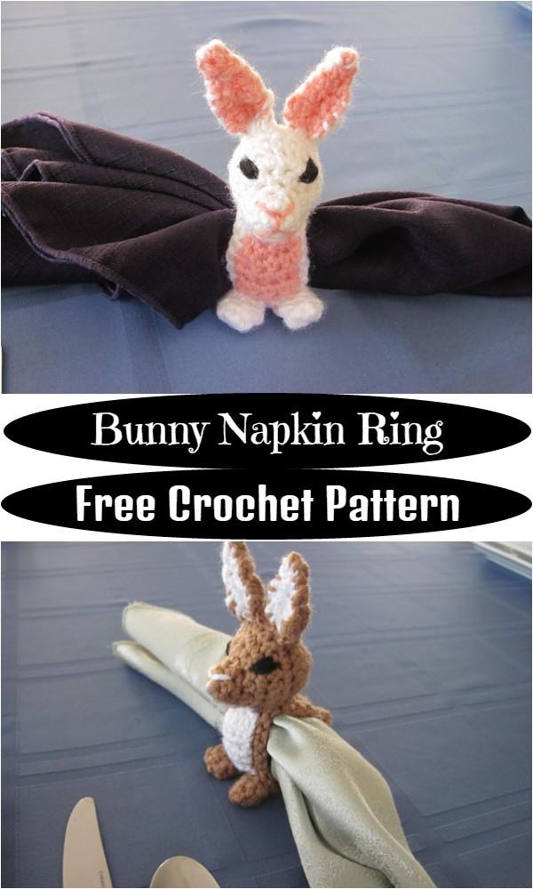 Free Crochet Bunny Napkin Ring Pattern