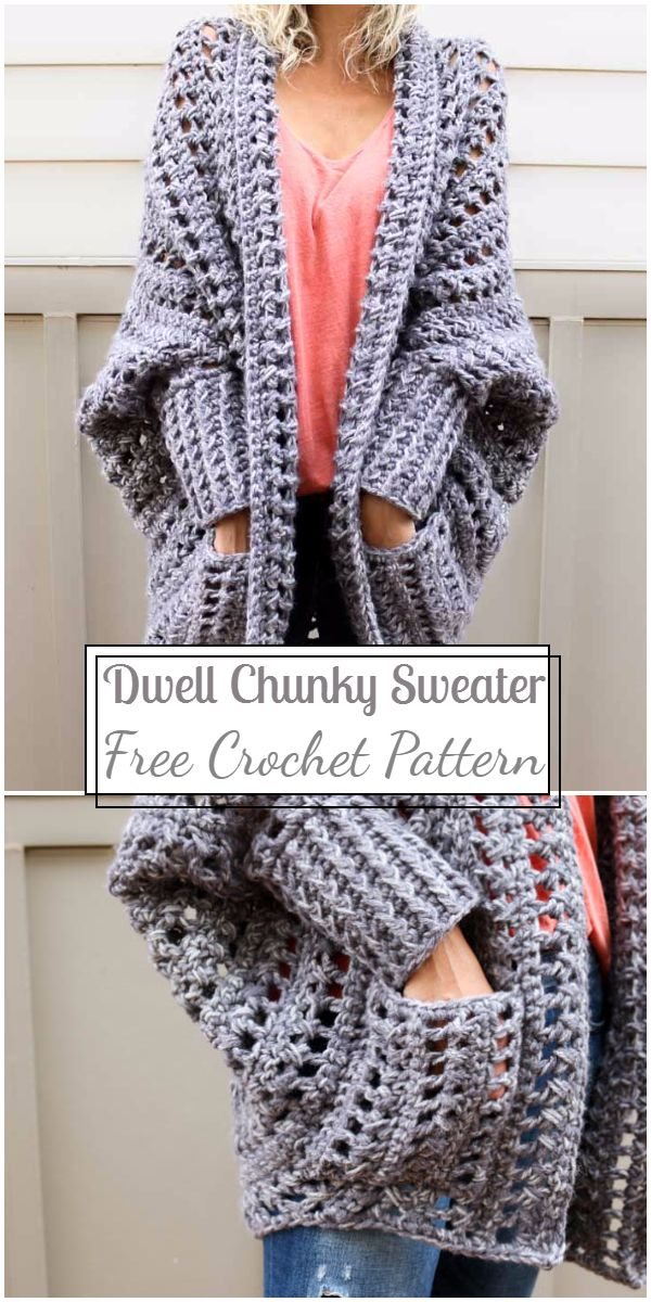 Free Crochet Dwell Chunky Sweater Pattern