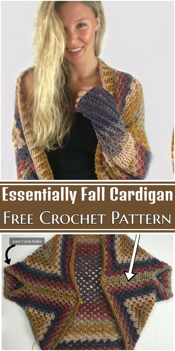 Free Crochet Essentially Fall Cardigan Pattern