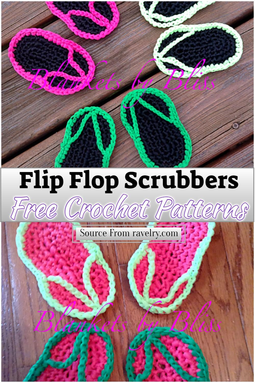 Free Crochet Flip Flop Scrubbers Pattern