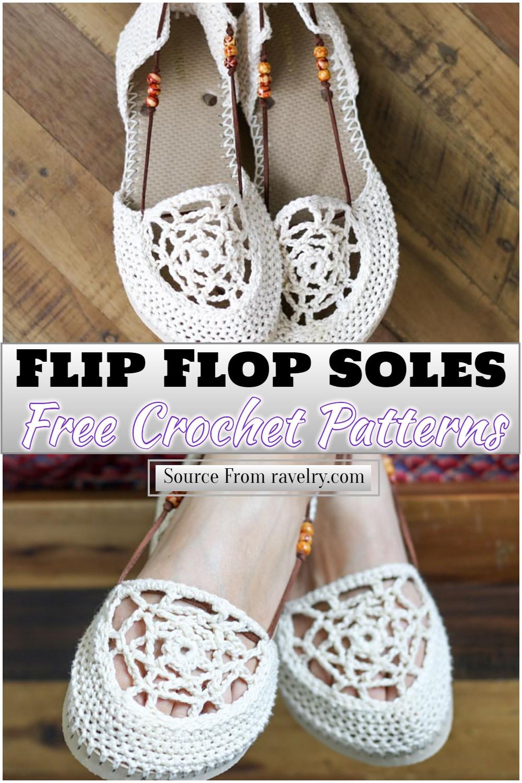 Free Crochet Flip Flop Soles Pattern