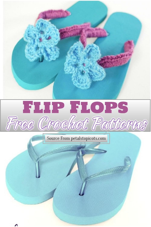 Free Crochet Flip Flops Pattern