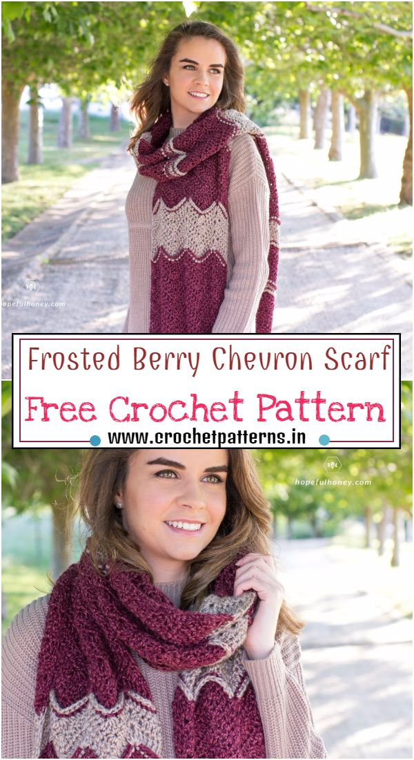Free Frosted Berry Chevron Pattern
