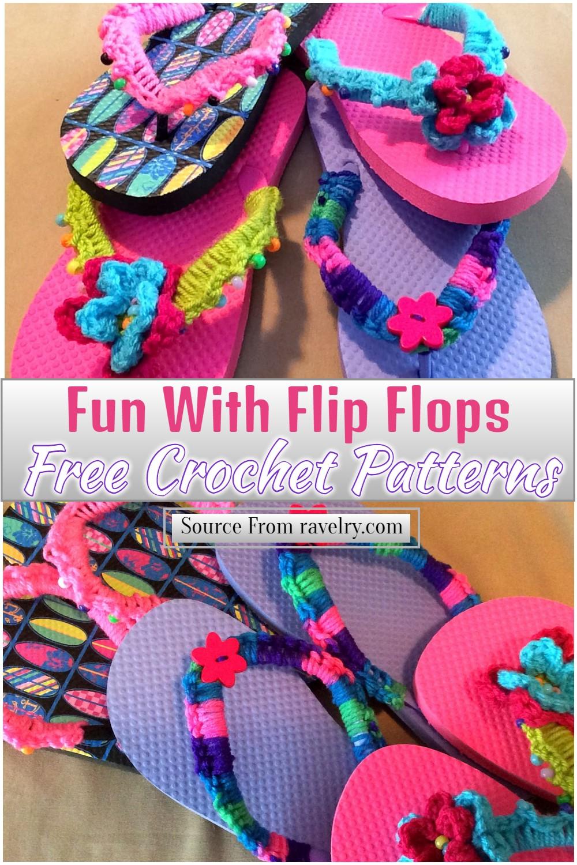 Free Crochet Fun With Flip Flops Pattern