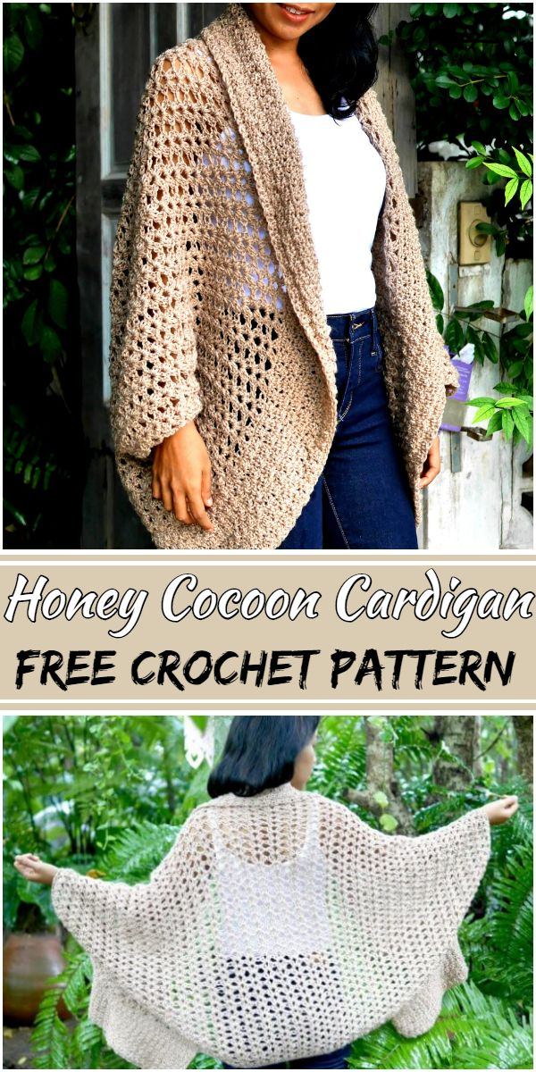 Free Crochet Honey Cocoon Cardigan Pattern
