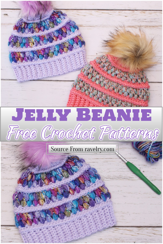 Free Crochet Jelly Beanie Pattern