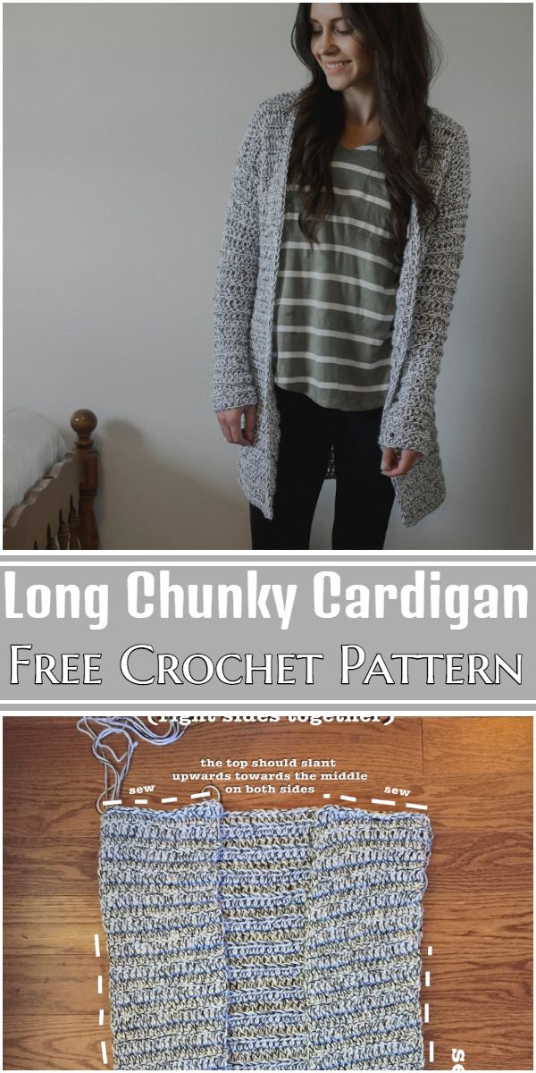 Free Crochet Long Chunky Cardigan Pattern
