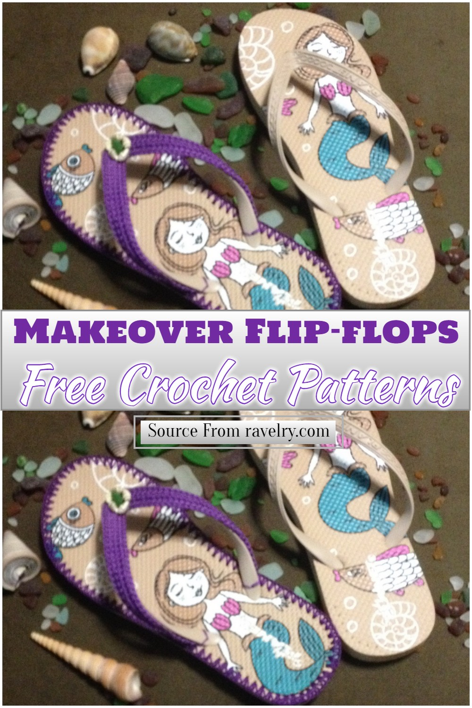 Free Crochet Makeover Flip-flops Pattern