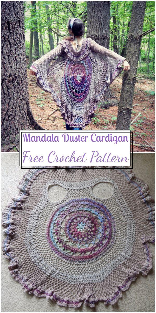 Free Crochet Mandala Duster Cardigan Pattern