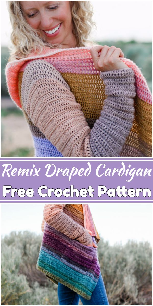 Free Crochet Remix Draped Cardigan Pattern