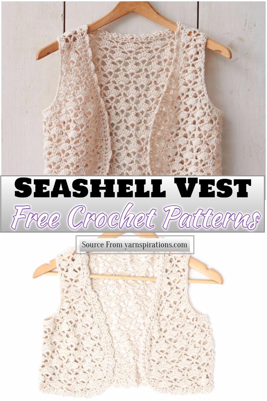 Free Crochet Seashell Vest Pattern