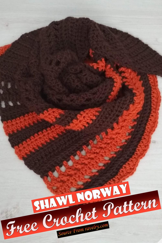 Free Crochet Shawl Norway Pattern