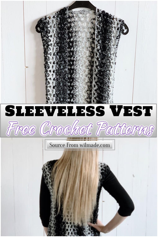 Free Crochet Sleeveless Vest Pattern