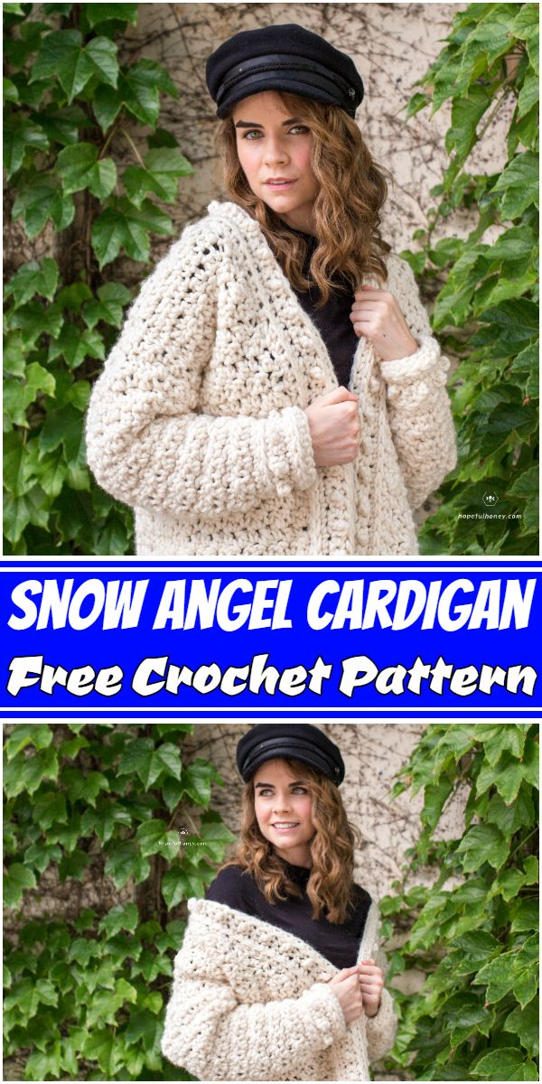 Free Crochet Snow Angel Cardigan Pattern