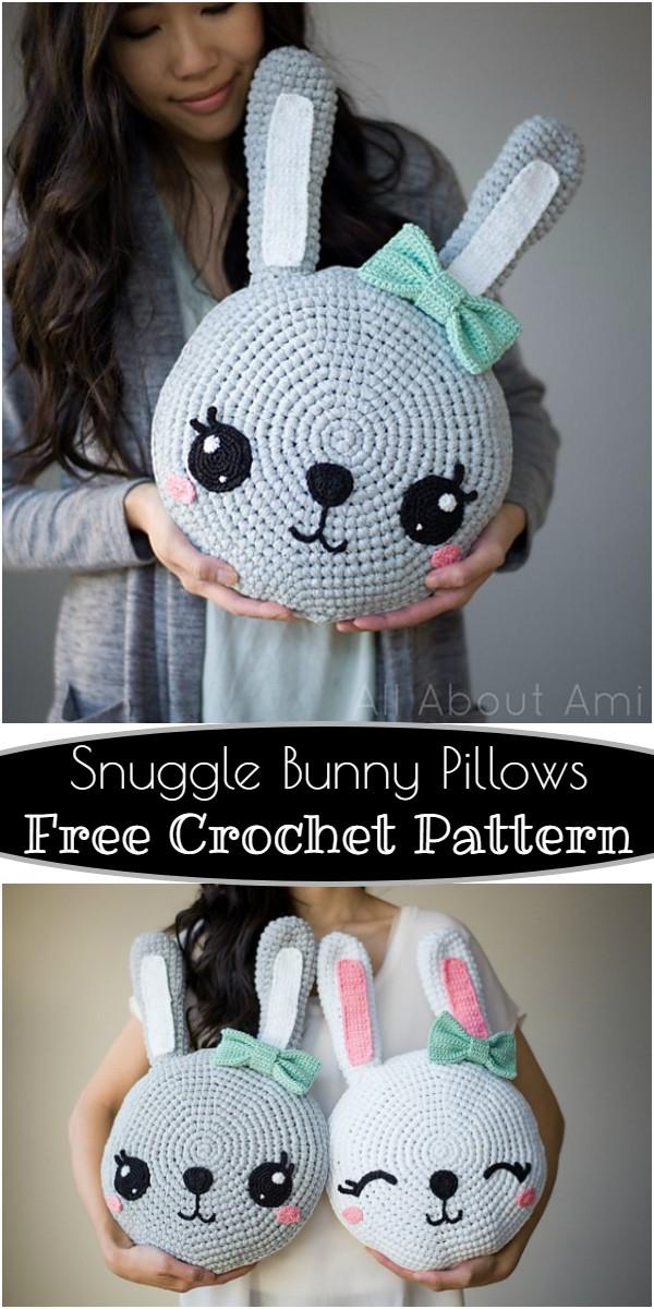 Free Crochet Snuggle Bunny Pillows Pattern