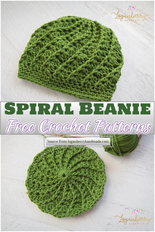 Free Crochet Spiral Beanie Pattern