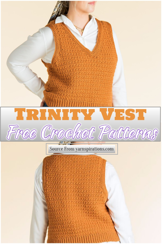 Free Crochet Trinity Vest Pattern