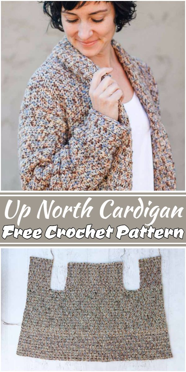 Free Crochet Up North Cardigan Pattern