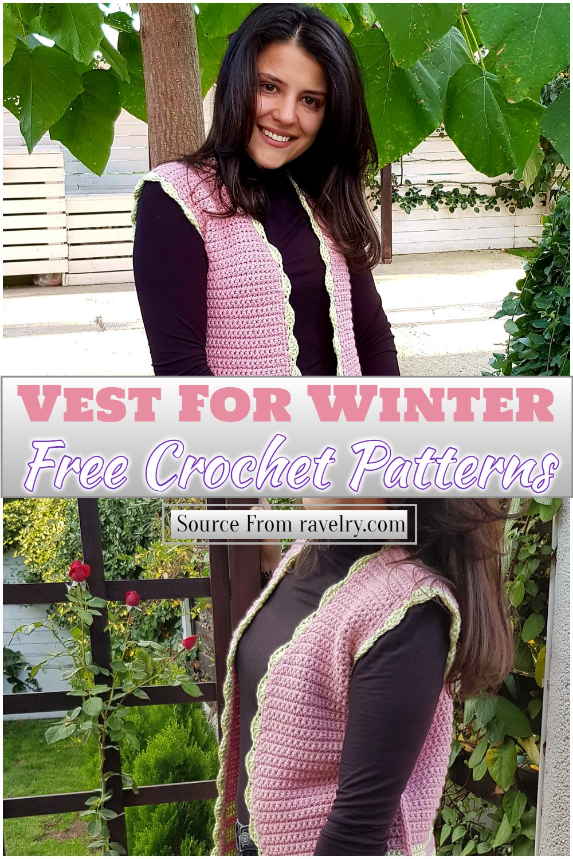 Free Crochet Vest For Winter Pattern