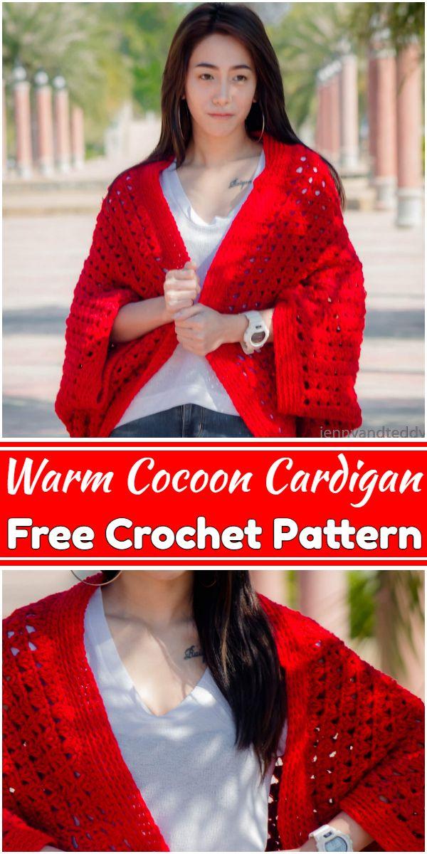 Free Crochet Warm Cocoon Cardigan Pattern
