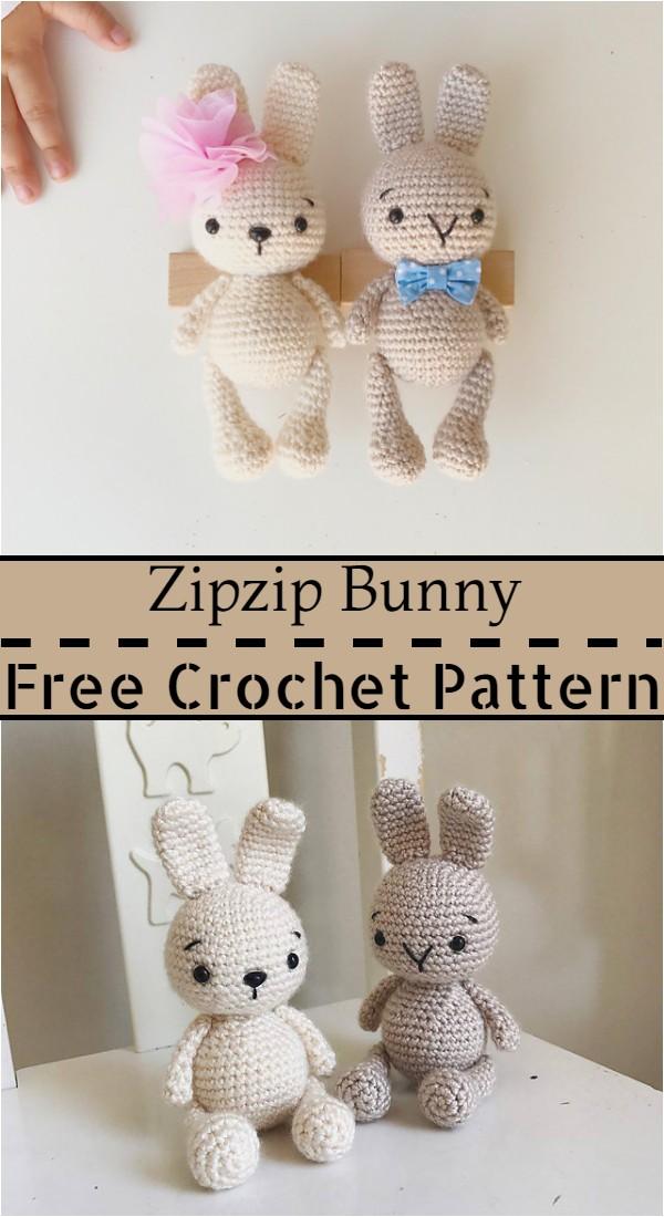 Free Crochet Zipzip Bunny Pattern