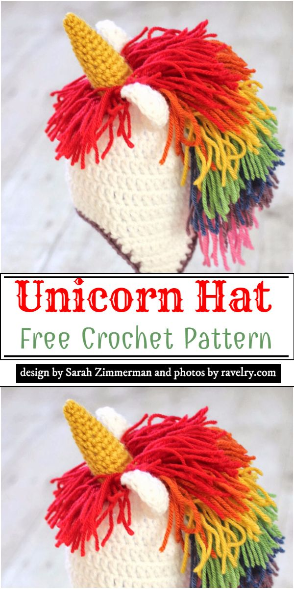 Free Unicorn Hat Crochet Pattern