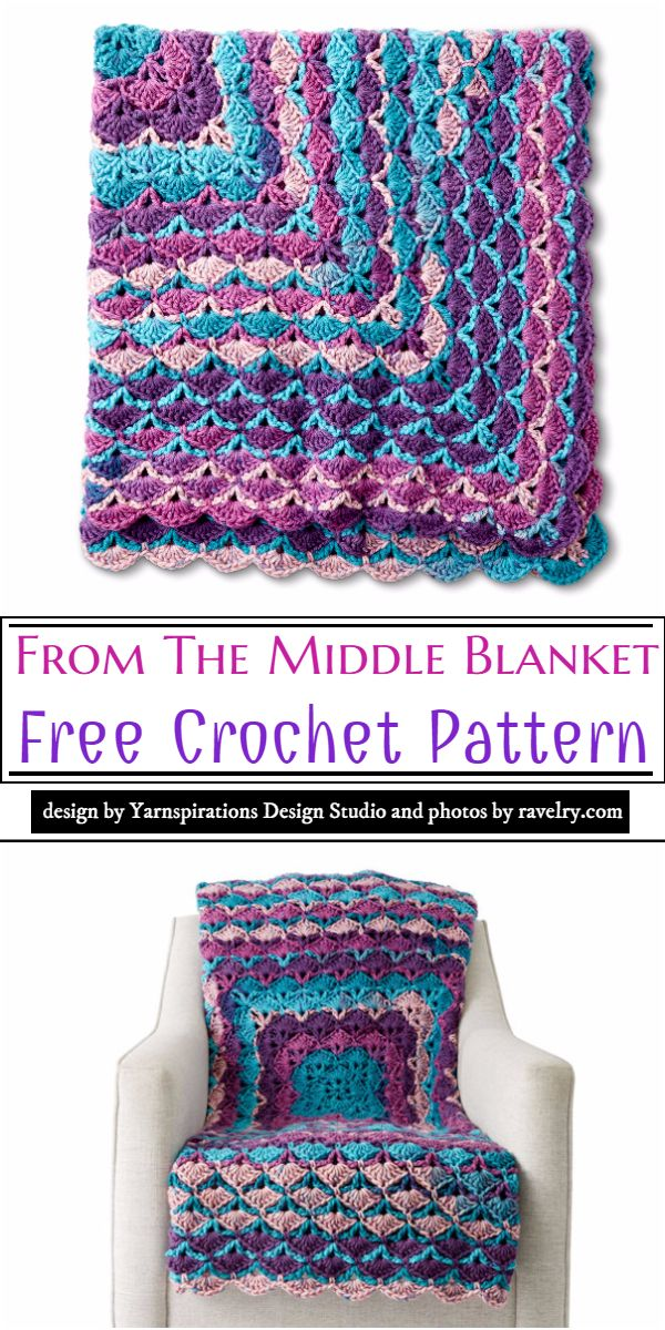 From The Middle Blanket Crochet Pattern