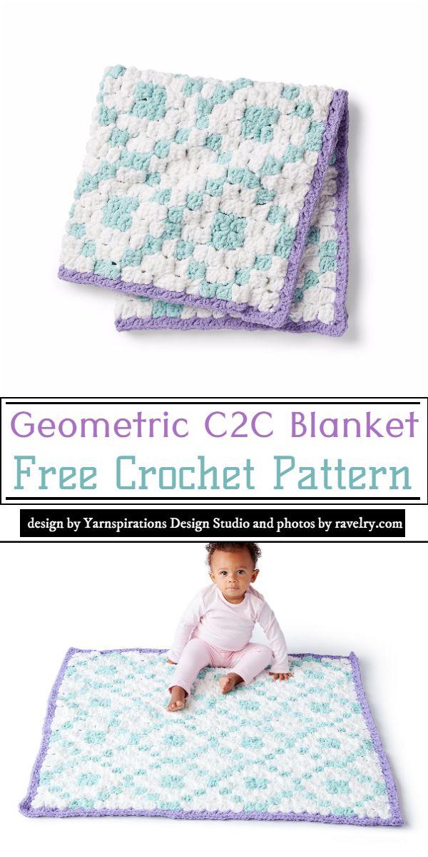 Geometric C2C Blanket Crochet Pattern