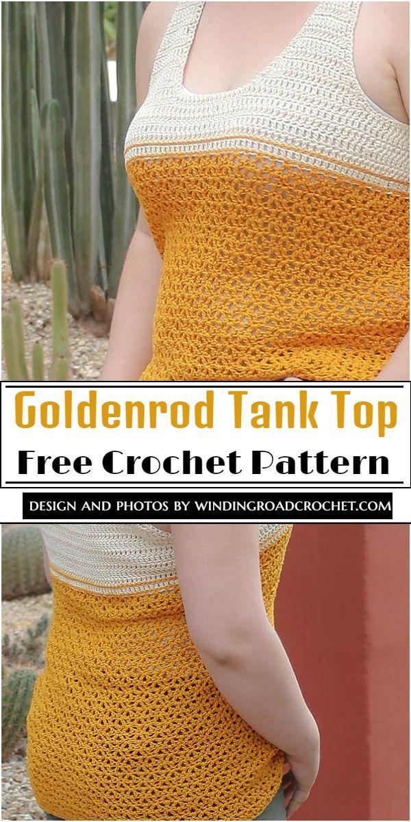 Goldenrod Tank Top Crochet Pattern