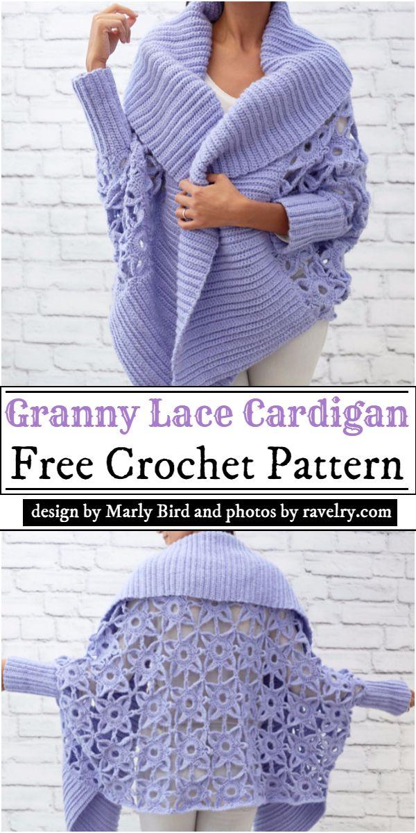 Granny Lace Cardigan Crochet Pattern