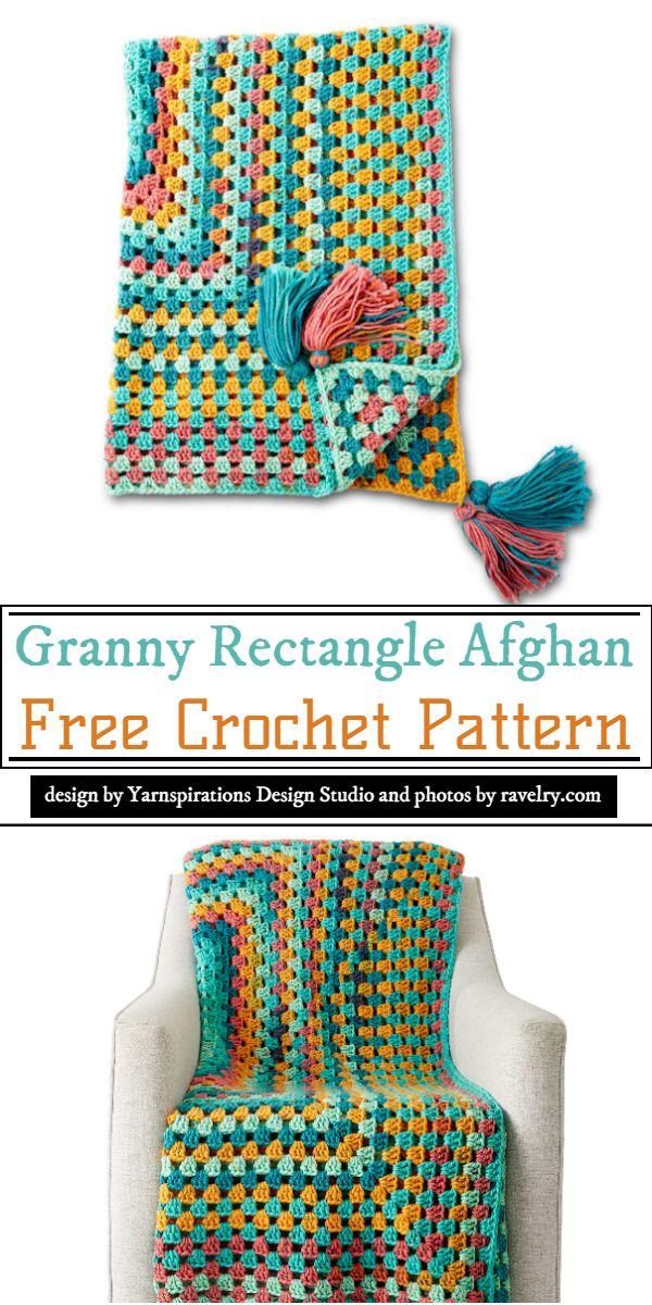 Granny Rectangle Afghan Crochet Pattern
