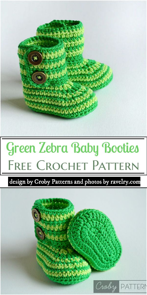 Green Zebra Baby Pattern