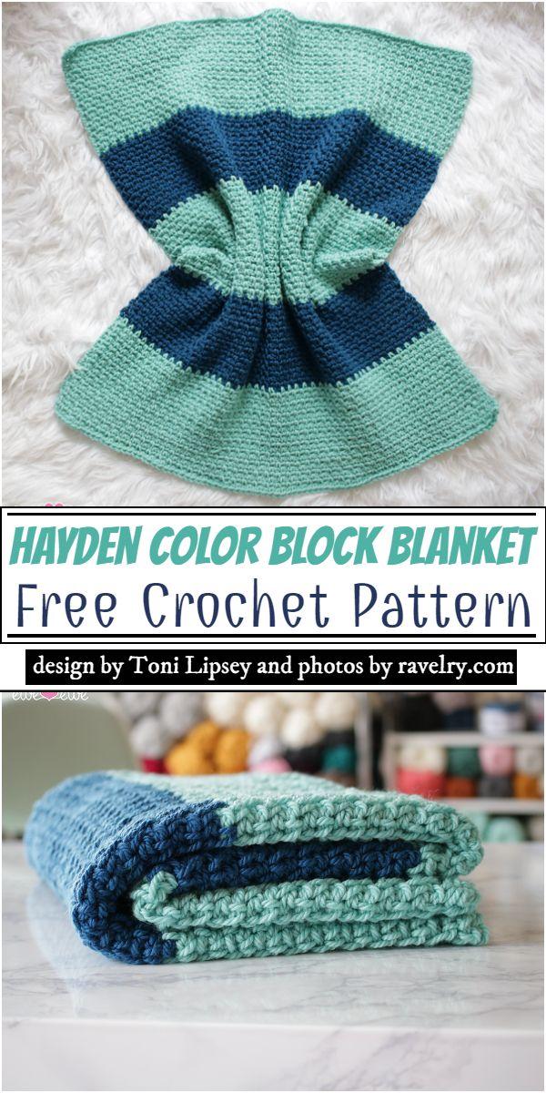Hayden Color Block Blanket Crochet Pattern