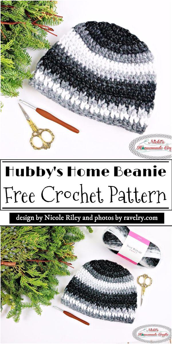 Hubby's Home Beanie Crochet Pattern