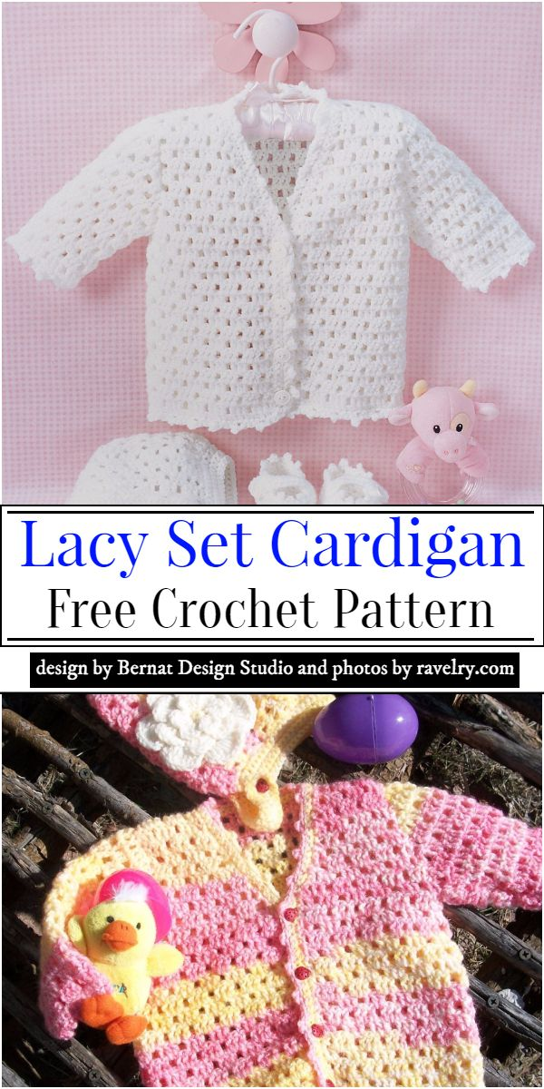Lacy Set Cardigan Crochet Pattern