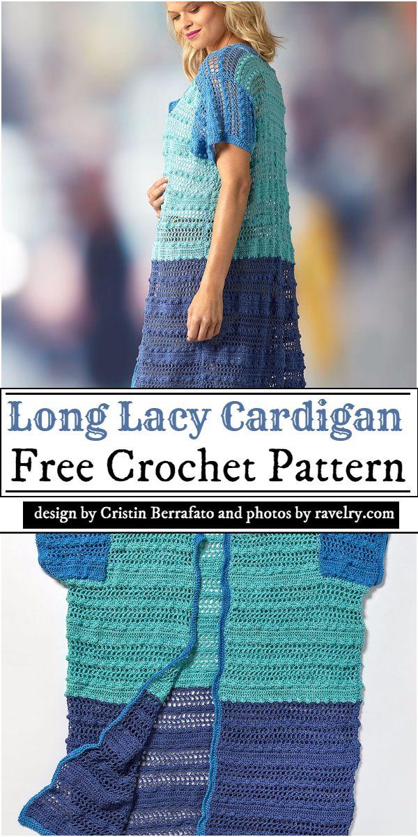 Long Lacy Cardigan Crochet Pattern