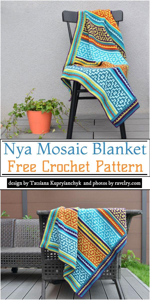 Nya Mosaic Blanket Crochet Pattern