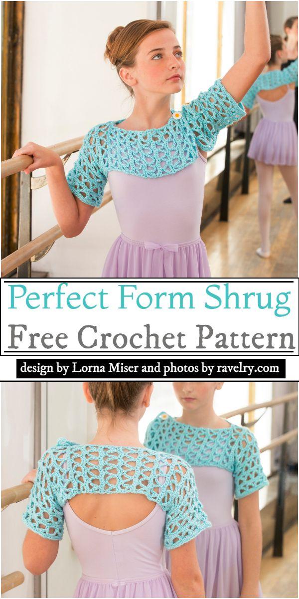 Perfect Form Shrug Crochet Pattern