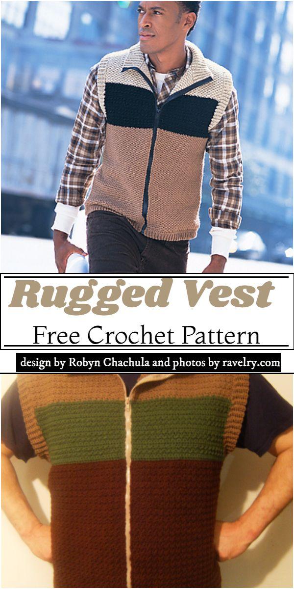 Rugged Vest Crochet Pattern