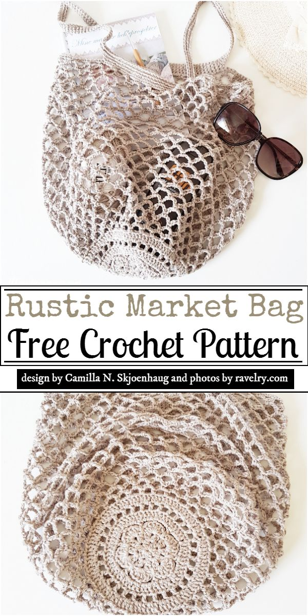 Rustic Market Bag Crochet Pattern