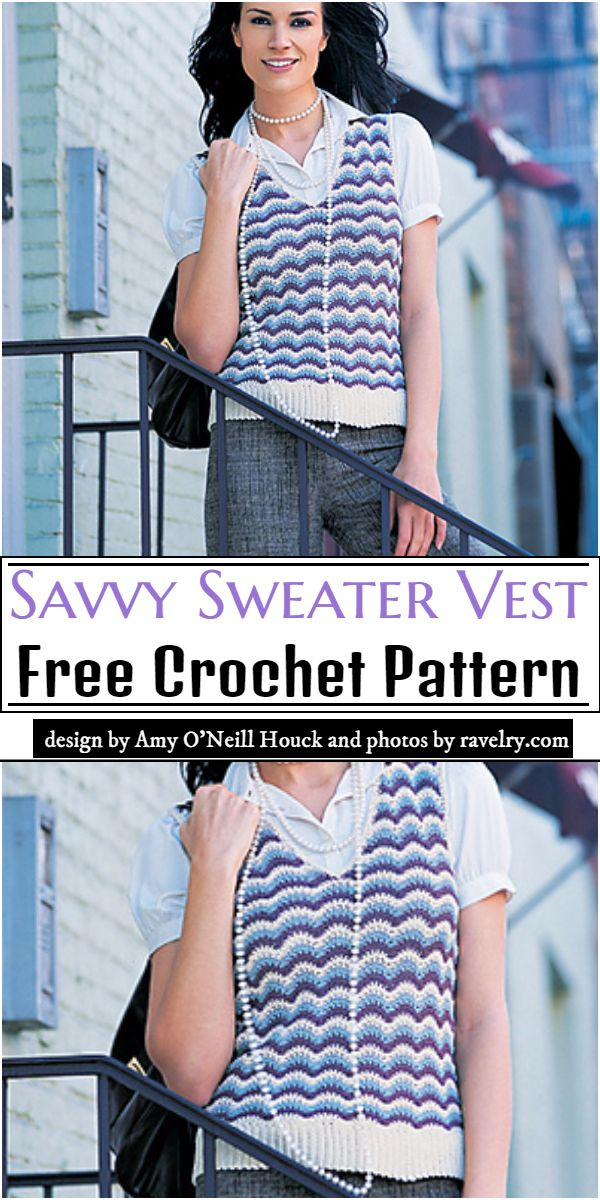 Savvy Sweater Vest Crochet Pattern