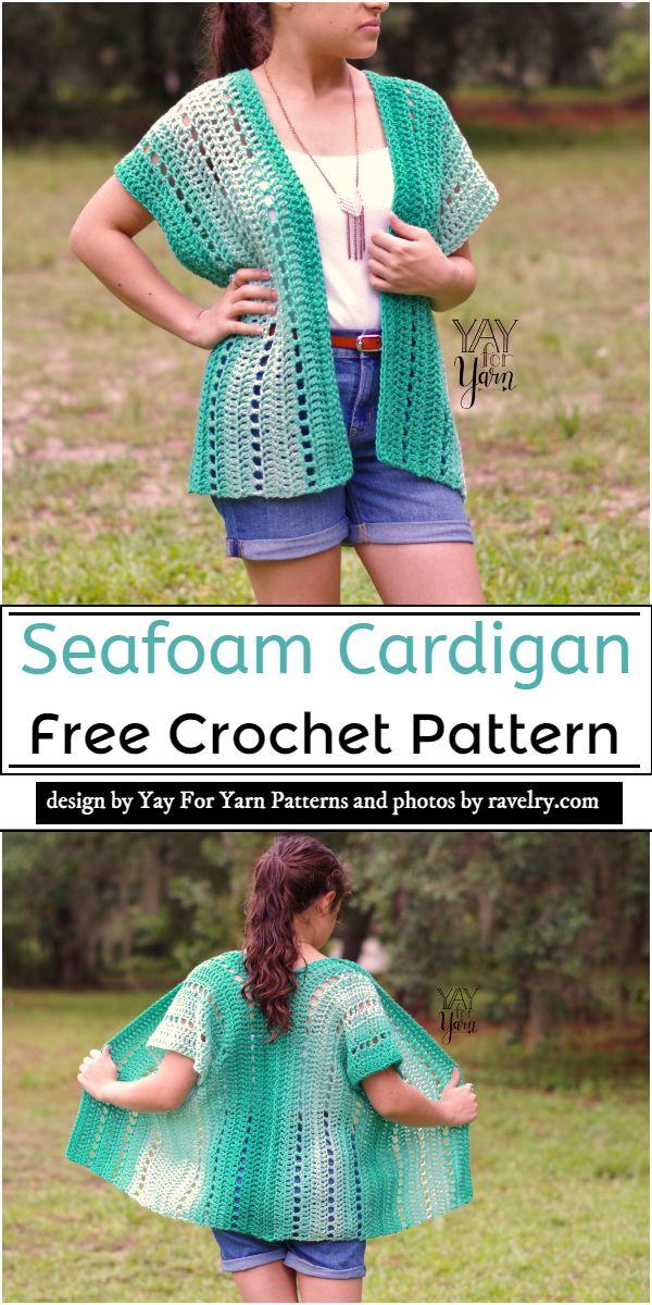 Seafoam Cardigan Crochet Pattern