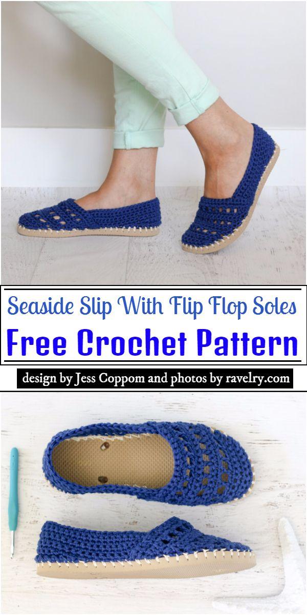 Seaside Slip With Crochet Flip Flop Soles Pattern