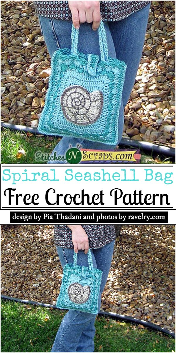 Spiral Seashell Bag Crochet Pattern