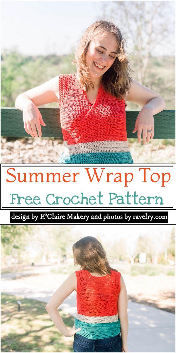 Summer Wrap Top Crochet Pattern
